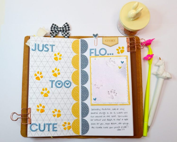 just too cute travellers notebook page for silhouette uk design team